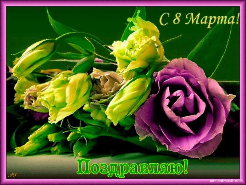 С 8 Марта женщинам коллегам - С 8 марта открытки для поздравления