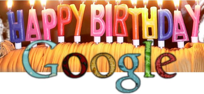 День рождения Google 2017 - 27 сентября
